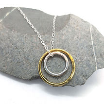 2.Gold-plated-silver-two-circle-pendant-