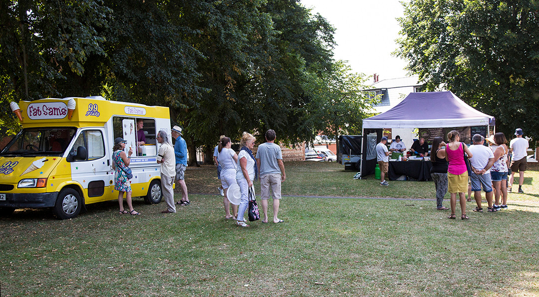 Fat Sam's ice creams and Ed Dibbles street food.