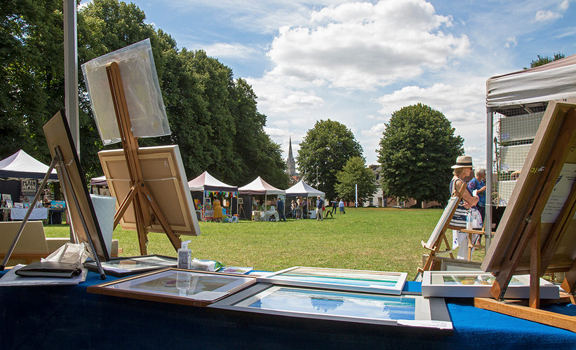 A great Cathedral view from the Salisbury Arts Group's stand!
