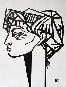 Extract of PORTRAIT OF JAQUELINE-Picasso