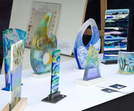 Geraldine McLoughlin's lovely glass display!