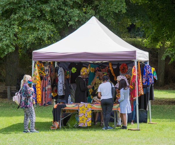 Colourful African clothing by Ufuoma Omoluru… and face masks!