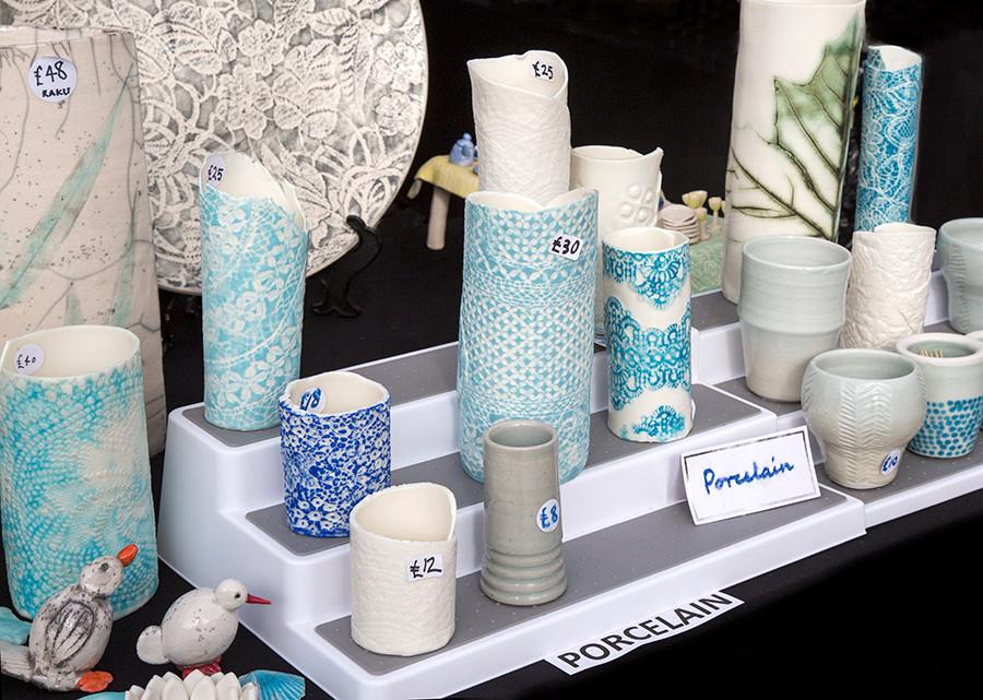 Heather Olsen's delicate porcelain.