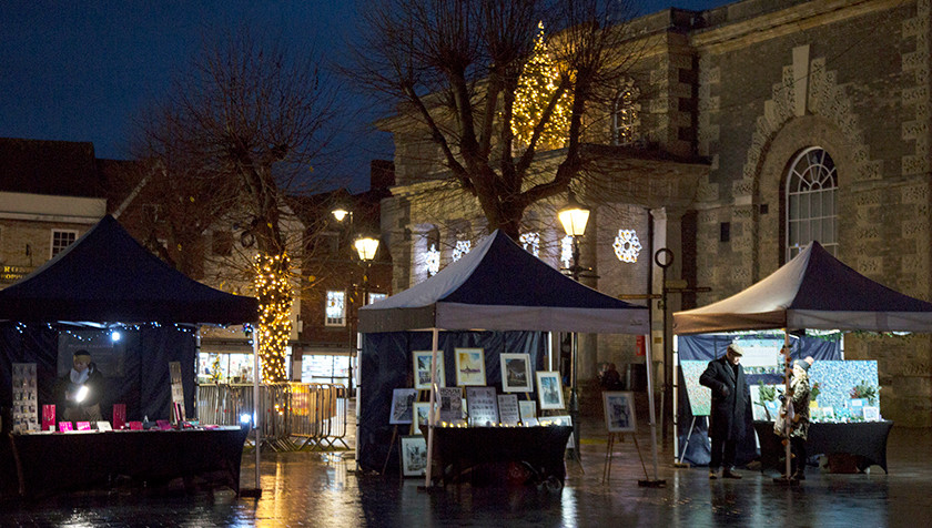 Mia, Fred and Charlotte… lit up the Guildhall end…