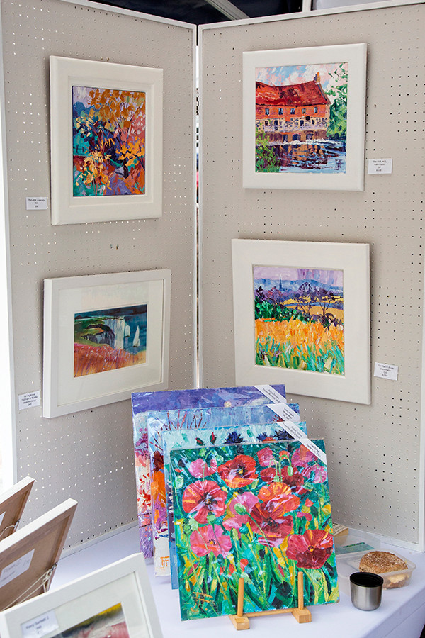 Fiona Forbes first time displaying in the Market Place.