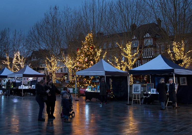 Christmas sparkle lite up the market square…