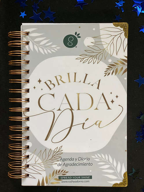 Agenda y Diario de Agradecimiento Brilla Cada Día