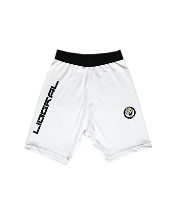 WHITE CYCLE SHORTS