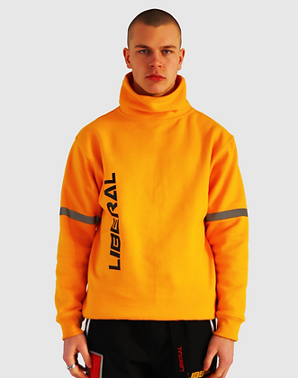 YELLOW ROLL NECK PULLOVER