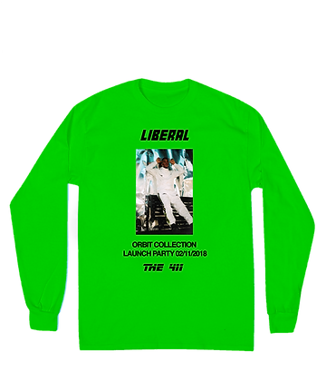 GREEN LAUNCH PARTY LONG SLEEVE