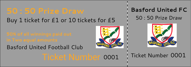 Please pledge your support to our club by purchasing a 50:50 ticket