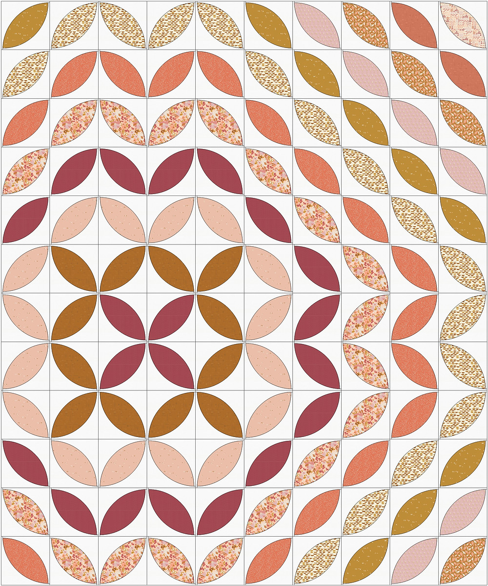 Warm color quilt petals