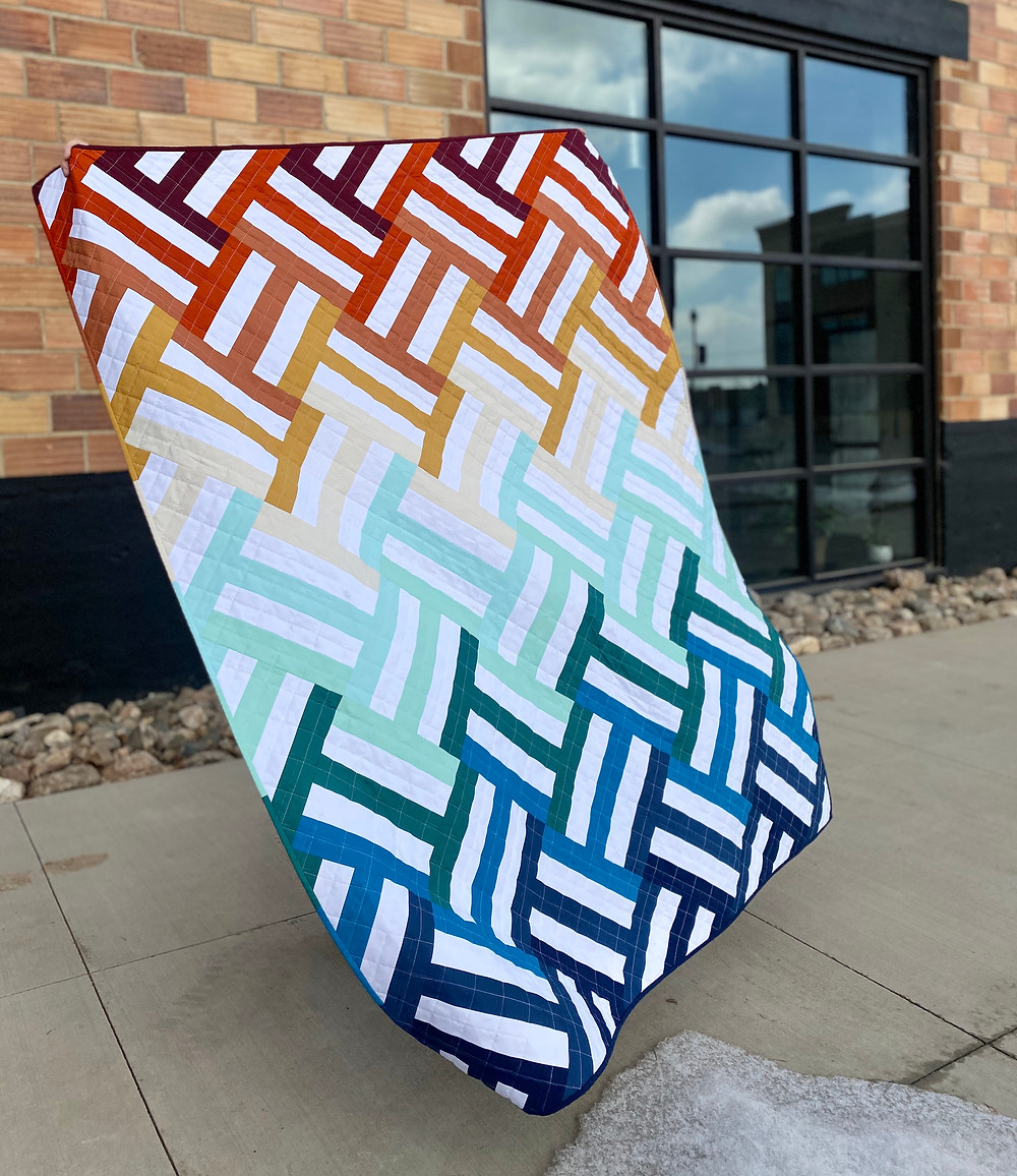 Ombre weighted quilt, throw size