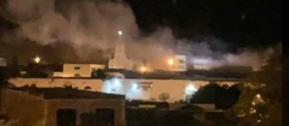 Noite do Terror em Sertânia, bandidos Explodem Banco do Brasil e Caixa