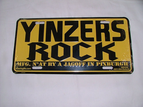 Yinzers License Plate