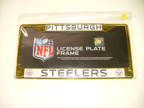 Steelers Yellow License Plate Frame