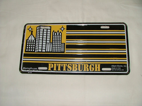 Pittsburgh Flag License Plate