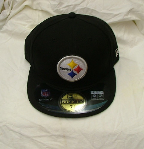 Black Fitted Steelers Hat