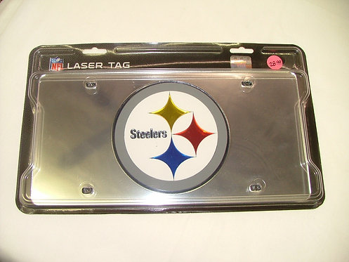 Steelers Silver License Plate