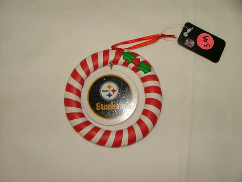 Steeler Striped Ornament