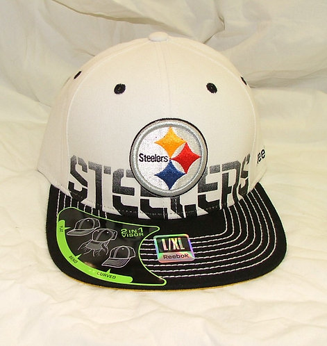 2-in-1 White Steelers Hat
