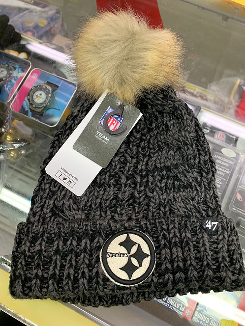 Womens Steeler cuff knit black