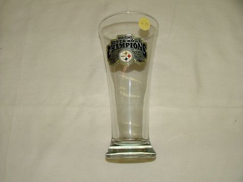 Tall Superbowl Champs Glass