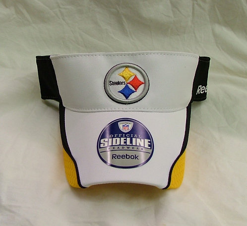 White Steelers Visor