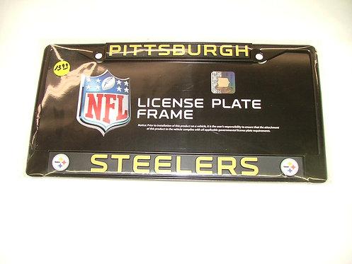 Steelers Black License Plate Frame