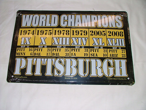 Steeler World Champs Sign