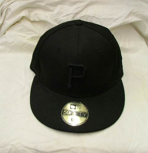 All Black Fitted Pirates Hat