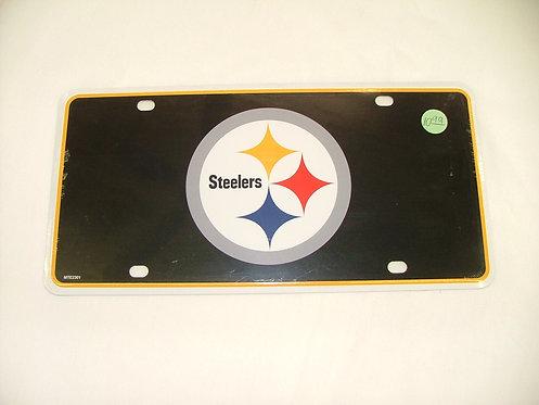 Steelers Black License Plate