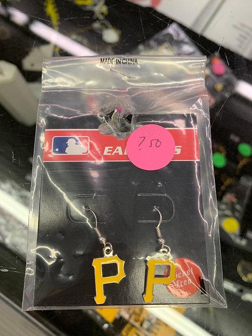P earrings