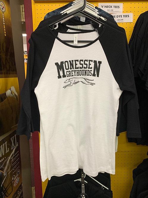 Monessen womens baseball tee