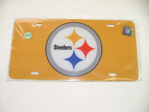 Steelers Yellow License Plate