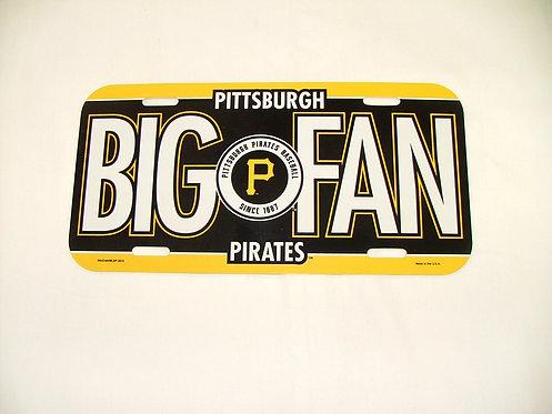 Pirates Fan License Plate