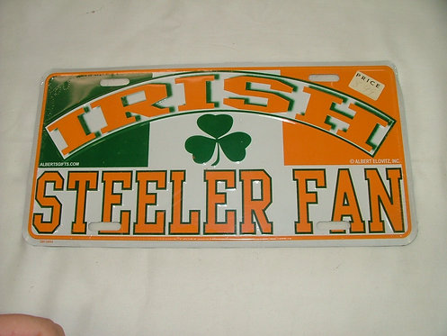 Irish Fan License Plate