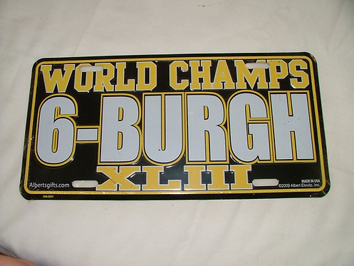 6-Burgh License Plate