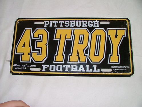 Troy License Plate