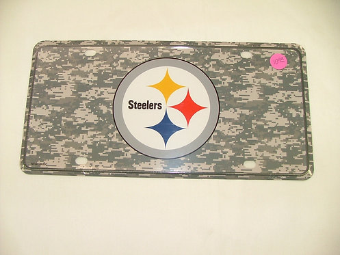 Steelers Digital Camo License Plate