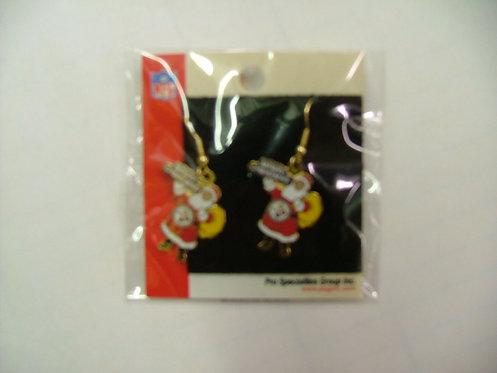 Steelers Christmas Earrings