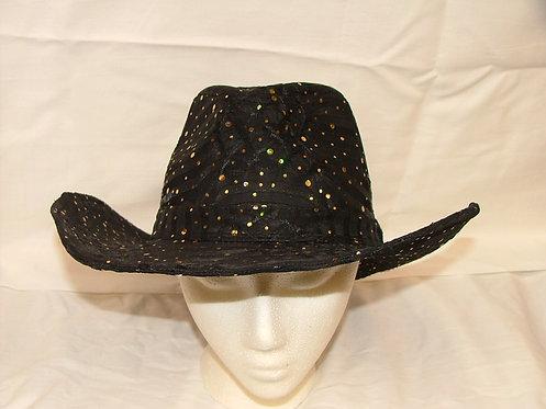 Gold Sequin Cowboy Hat