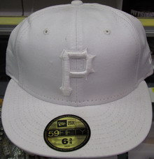 All White Fitted Pirates Hat