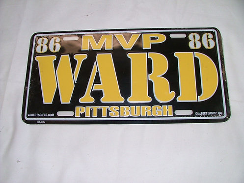Ward License Plate