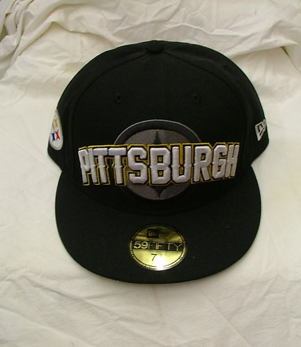 Black Fitted Pittsburgh Steelers Hat