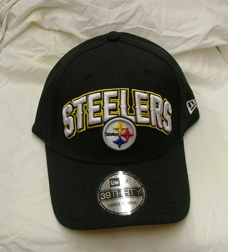 Black Steelers Fitted Hat