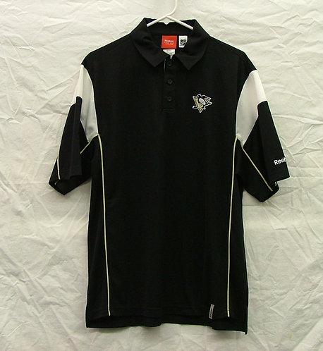 Black Polo Style Penguins Shirt