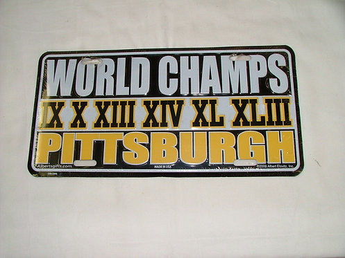 World Champs License Plate