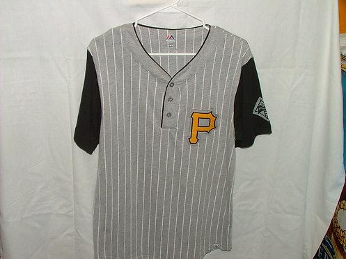 Grey Pin Stripe Shirt - Size M