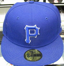 All Blue Fitted Pirates Hat